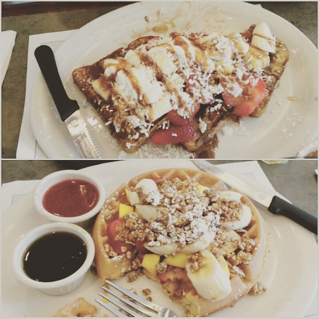 I took Forest on a breakfast date so i could get waffles. :) #TurningPoint