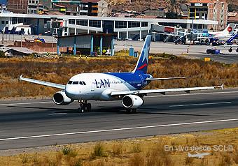 LAN A319 en CUZ (Miguel Cano Alva)