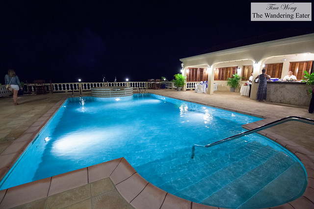 Large swimming pool and terrace at the second floor
