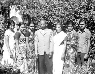 S. N. and Phoebe Solomon family, India, 1973