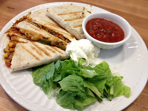 easy dinner quesadillas