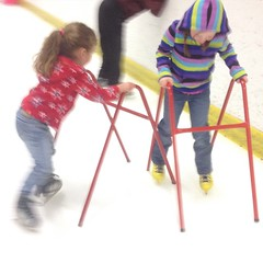Ash loved crashing into her sister. LOL. #iceskate #skate #goof