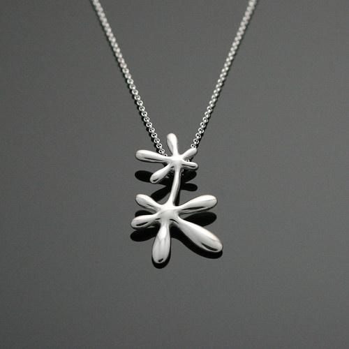 Leaflower- long pendant
