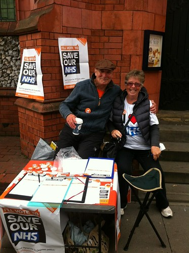 38 Degrees members campaign to Save our NHS - Muswell Hill