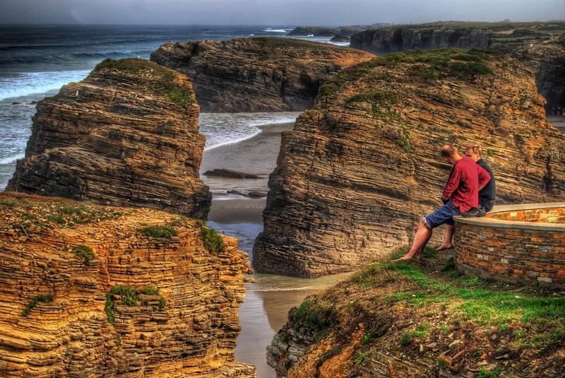 Spain cliff beach