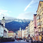Late light, Innsbruck old town. Somehow, I'm not supposed to be melting with envy that Audrey is poking around Europe with the remaining days of her Eurail pass. But I encouraged this. Looking forward to seeing where she's headed next. #Austria