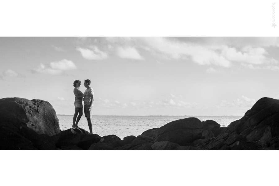 Silhouette. silhouette, rocky coastline, clouds, romantic