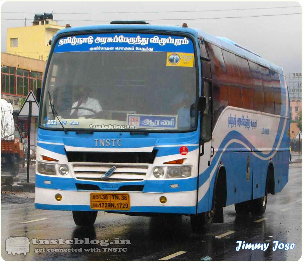 TN-38N-1729 of Arani Depot Route Arani Chennai AC
