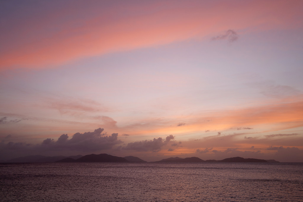 Sunset over the Virgin Islands (explored)