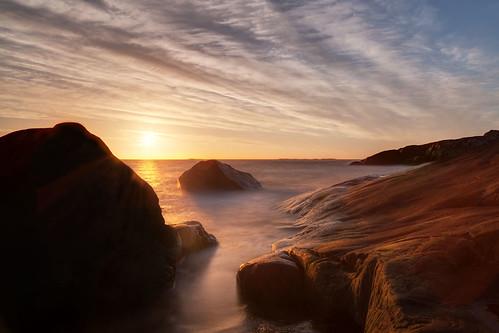 ocean sunset sea sun water coast rocks sweden cliffs archipelago skärgård hönö canonef24105mmf4lisusm öckerö västragötalandslän canoneos6d ersdalen