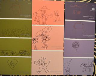 Paint Chip Doodles ET