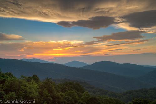 summer mountains sunrise landscape virginia us unitedstates shenandoah luray landscapemountain