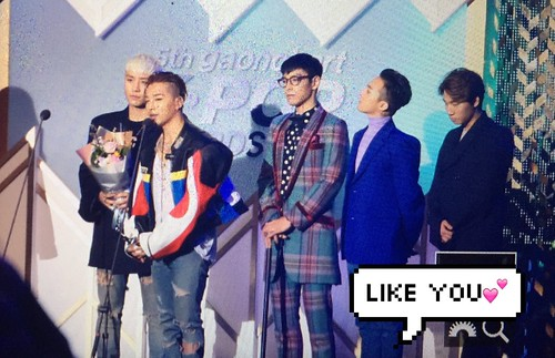 Big Bang - The 5th Gaon Char K-Pop Awards - 17feb2016 - likeyou_GD - 05