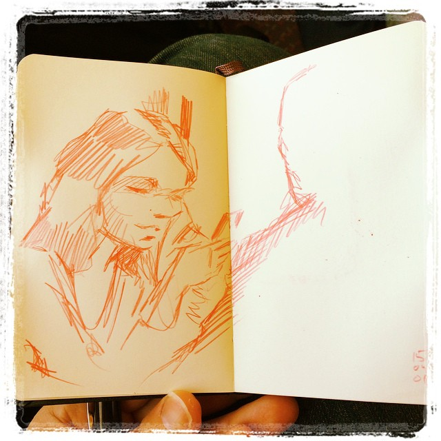 #urbansketch #train #portrait #kurutoga #mechanicalpencil