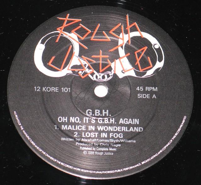 "G.B.H Oh No It's G.B.H Again Rough Justice 12"" EP"