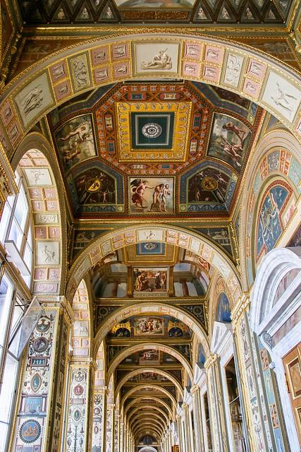 Raphael Loggia in Hermitage Museum, Saint Petersburg, Russia エルミタージュ美術館、ラファエロの回廊
