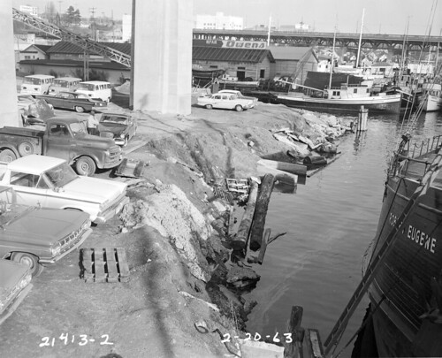 Northlake area under I-5 bridge, 1963