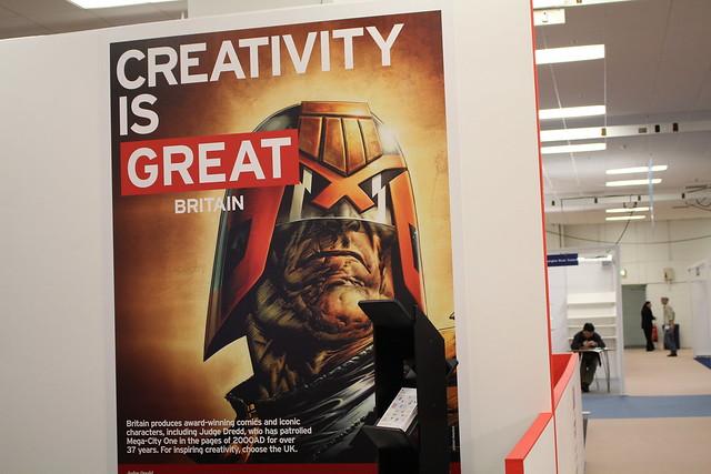 Creativity is great (Judge Dredd) - London Book Fair 2015