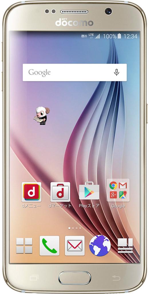 Galaxy S6 SC-05G 実物大の製品画像