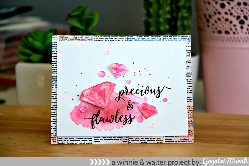 precious & flawless card day 4