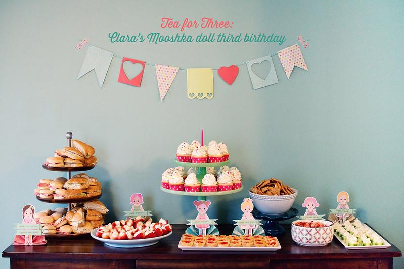 Tea for Three: Clara's Mooshka doll birthday