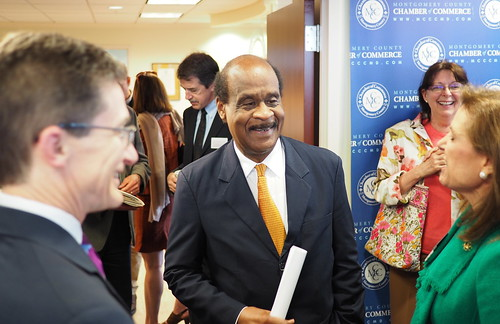County Executive Ike Leggett attended the Green Business Program Expansion announcement.