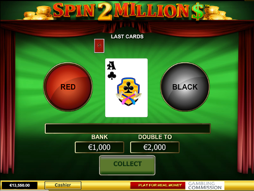 free Spin 2 Million Dollars slot gamble feature