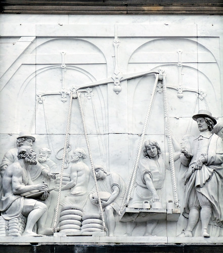 Bas-relief of Weighing Cheese in Gouda, Holland