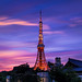 Flaming Sunset, Tokyo Tower by 45tmr