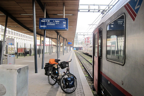 Bike in the train: Luxembourg-Basel