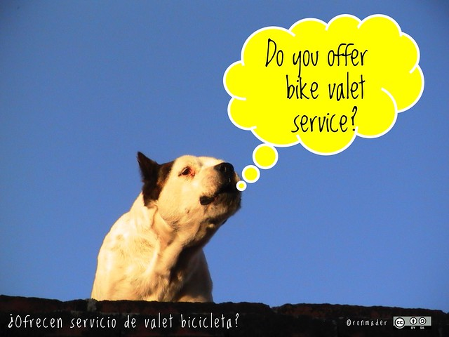 Do you offer bike valet service? = ¿Ofrecen servicio de valet bicicleta? #roofdog