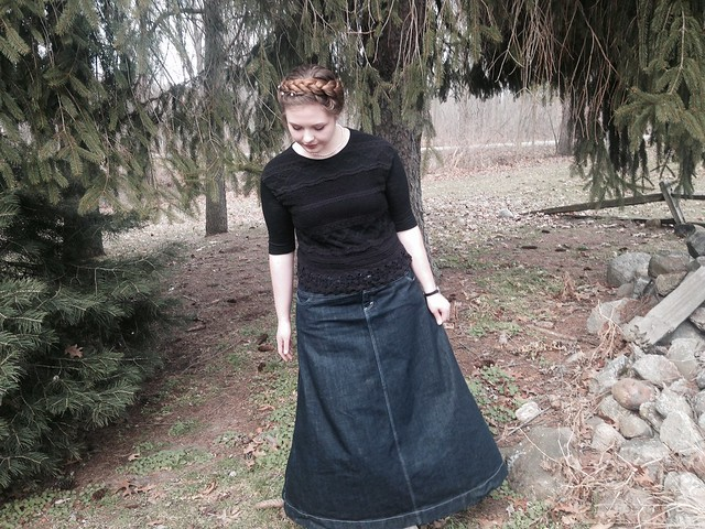 Outfit // Polished Denim (Fresh Apparel Skirt Review)
