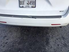 Knife on the Back Bumper