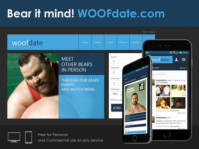 WOOFdate on Smart Phones and Tablets