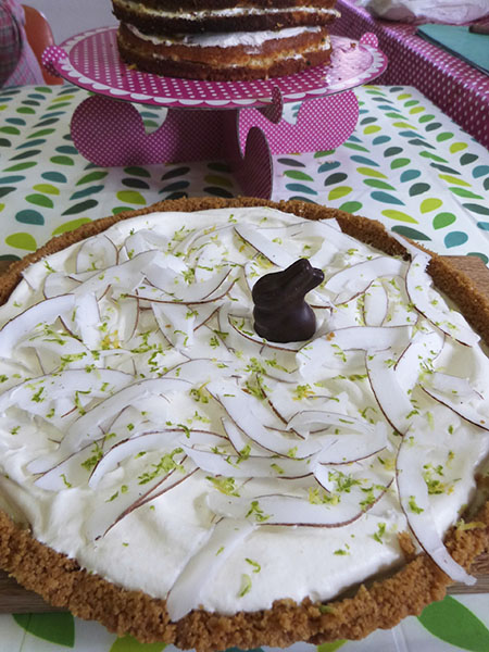 coconut and keylime pie