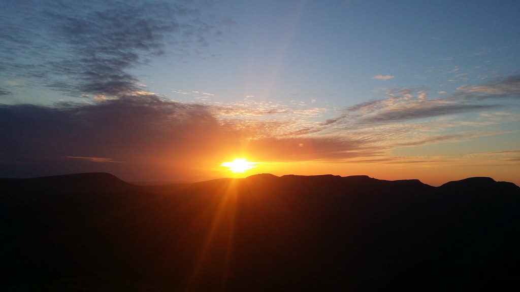 Sunset from Lingmell #sh