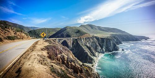 california bridge sea sky cliff sunlight seascape color lines clouds landscape us monterey rocks day unitedstates sony voigtlander bigsur portfolio fullframe onsale ultrawide leading a7 bixby leadinglines voigtlander15mm sonya7