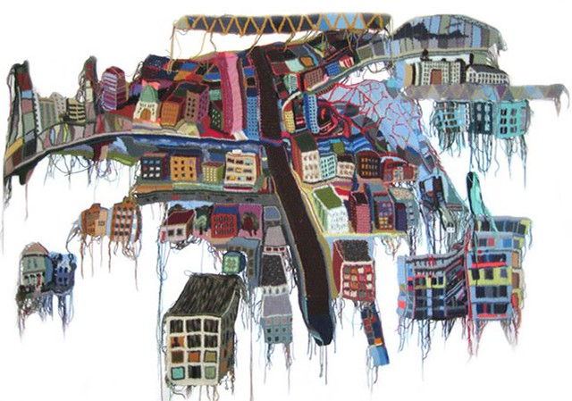 I crochet Portland, crochet landscape by Jo Hamilton | Emma Lamb