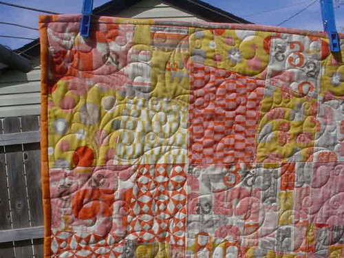 """Hipster"" quilt close up"