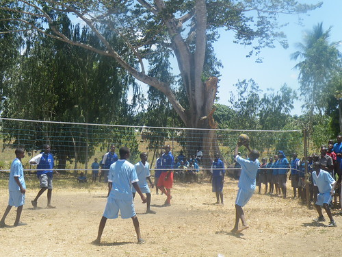 Our Volleyball team in action