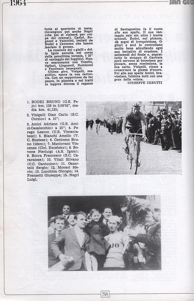 San Geo edizione n.40 vinta da Bodei