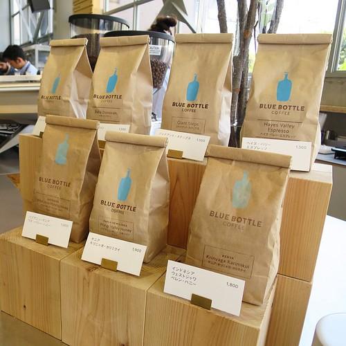 コーヒー豆も売ってます。 #ブルーボトルコーヒー