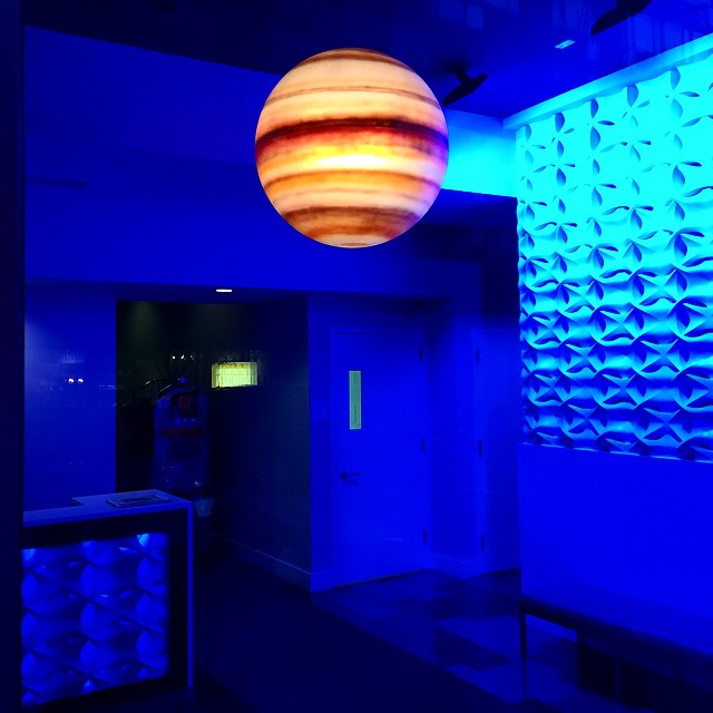 An interstellar lobby experience. #art #interiordesign #space #jupiter #interstellar #design #architecture #nyc #greenwichvillage #manhattan