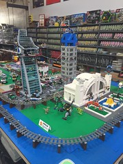 Lego Superhero City new layout for GMLTC at Brickmania!