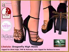 Bliensen - Libelula - Dragonfly High Heels