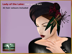 Bliensen - Lady of the Lake - Hat with Hair