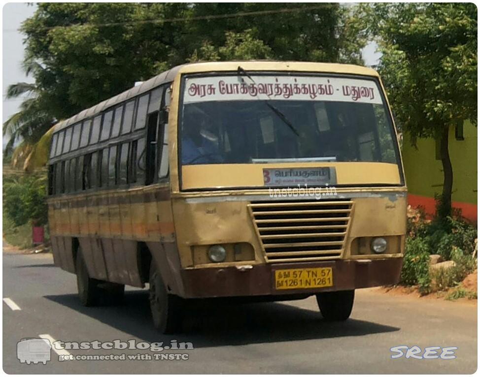 TN-57N-1261 of Periyakulam Depot Route 3 Periyakulam - Andipatti via Vadugapatti, Vaigai Dam, Jambuliputhur.