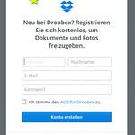 Dropbox-Formular wegklicken