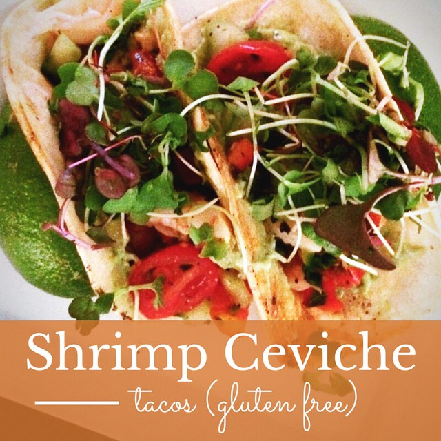 Witherspoon Grill Shrimp Ceviche Tacos