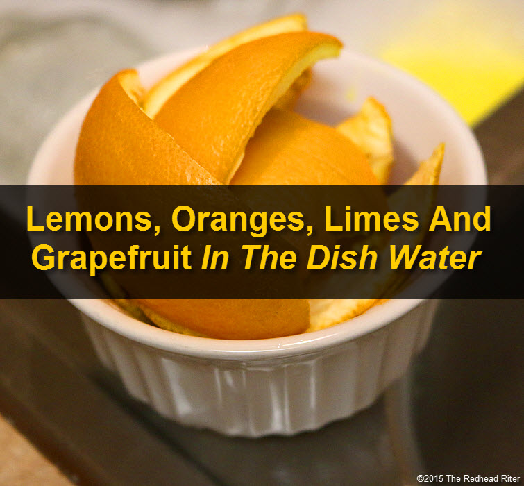 Lemons, Oranges, Limes And Grapefruit In The Dish Water